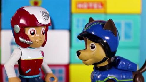 汪汪队的阿奇认为自己最厉害 莱德队长决定大家比一比 玩具故事