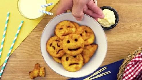 马铃薯制作的可爱卡通人物,小朋友抢着吃呢