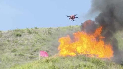 减少人火对抗!高山坡陡起火,四川消防用黑科技灭火