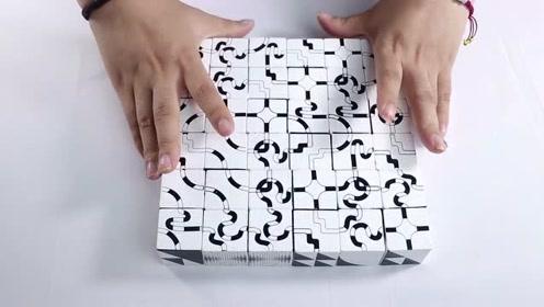 宁波创意年轻人 设计黑白积木 36立体方块脑洞大开