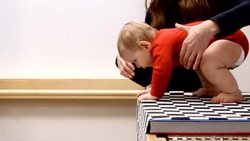 """美国专家做实验,让婴儿在""""视觉悬崖""""上爬行,结果让人惊讶"""