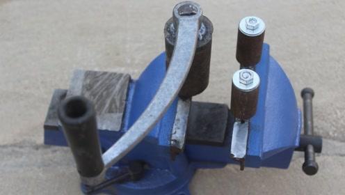机械牛人自制折弯利器,用起来太方便了,这才叫旧物改造!