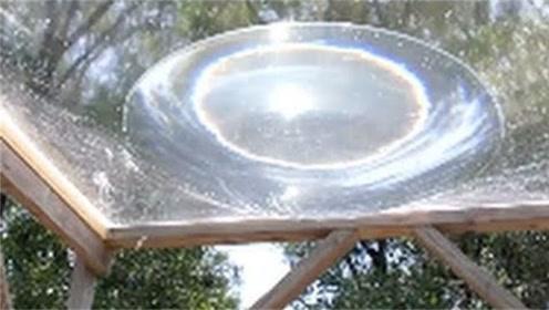 老外用塑料水棚做凸透镜实验,结果让人惊讶,一起来看看!