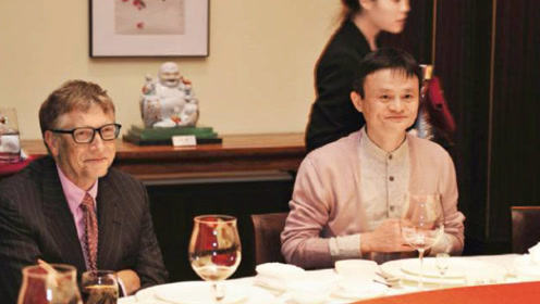 马云请比尔盖茨吃饭,菜单意外曝光,网友:吃的还没我好!