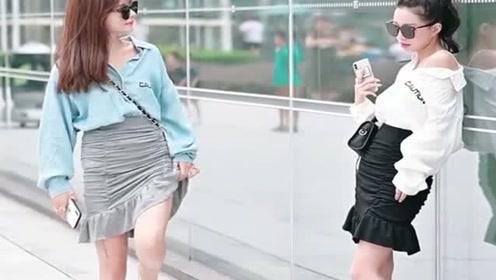 撞衫不可怕,谁丑谁尴尬,小姐姐拉裙子干啥?