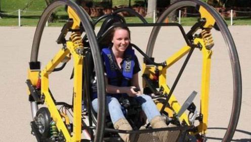 大学生研发的巨轮电动车,会翻跟斗还可以倒着开,太刺激了