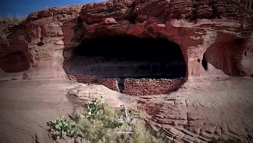 人迹罕至的深山:无人机发现个神秘洞穴,难道有道友在此隐居吗?