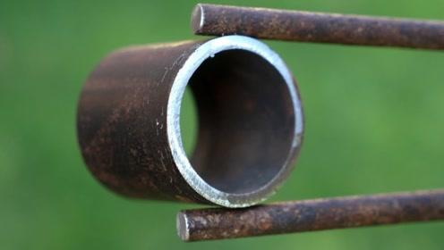 牛人利用旧物改造的这个工具,真的太实用了,改天我也做个试试看