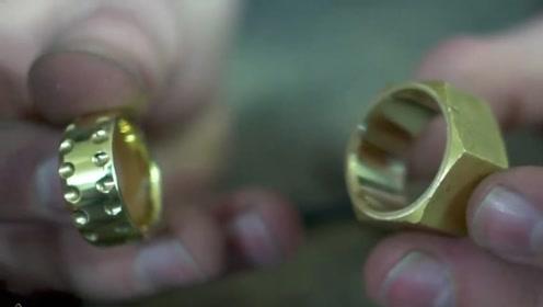 外国牛人用六角螺丝母制作戒指,这是变废为宝啊,满满的惊喜哦