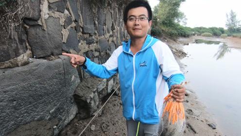 堤坝上的洞里躲满大螃蟹,但不能挖,渔夫放了个大招一锅端了
