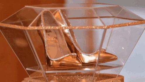 世界上最贵的高跟鞋,一双就价值1.2亿,黄金打造镶嵌250颗钻石!