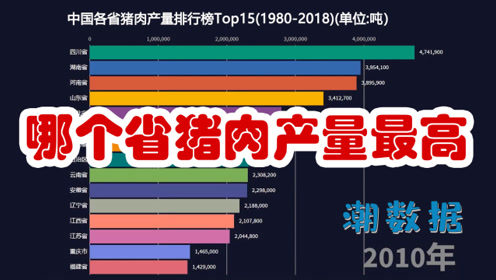 哪个省猪肉产量最高?四川省又创记录![数据可视化]