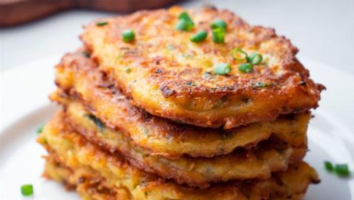 原来土豆饼是这样做的!步骤简单,学会早餐就吃辣土豆饼