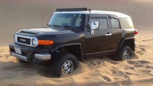 牧马人与FJ酷路泽是不是一个档次的?沙漠陷车时就明白了!