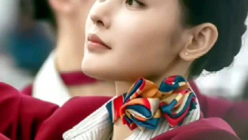最美空姐张天爱,她貌美如花,美到无法挑剔