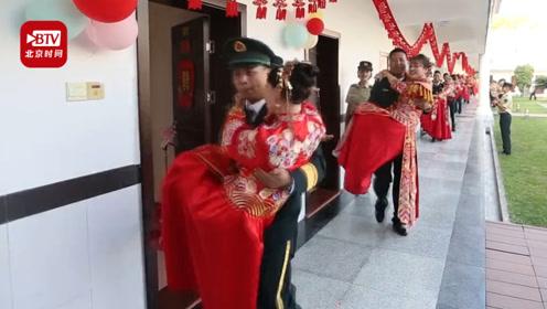 12名火箭军齐刷刷抱出新娘 网友惊呆:看婚礼看出了阅兵的感觉!