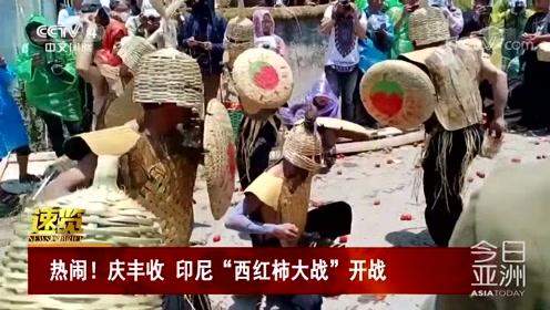 """热闹!庆丰收 印尼""""西红柿大战""""开战"""