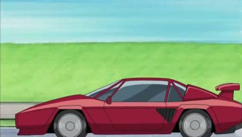 哆啦A梦:大雄哆啦A梦乘坐吸尘器和小夫的表哥比赛车,太逗了