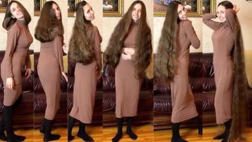 美女每天变换一个发型,朋友误认为是假发,拽她头发时意外了!