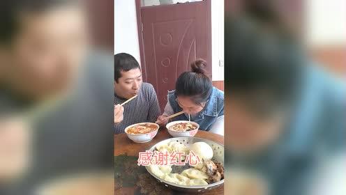 今天媳妇想吃片汤了!昨天包饺子剩下的面!嫁给了幸福