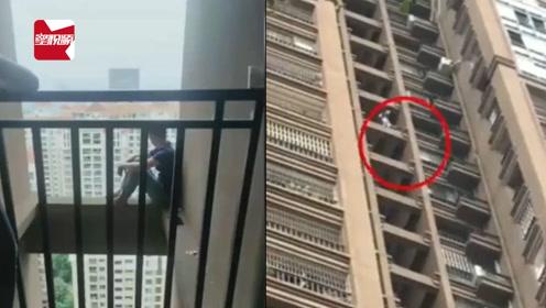 广西一男子跳下26楼奇迹生还,目击者:被救起时还在喊疼