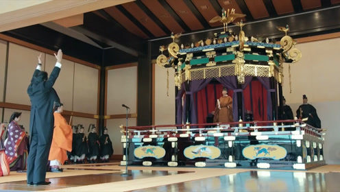 直击日本天皇即位仪式:安倍致辞结束高喊万岁现场鸣礼炮