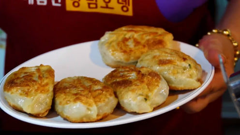听说韩国的煎饺很好吃,一看果然不错皮薄馅大
