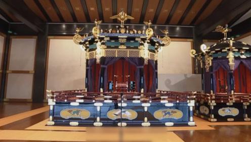 """日本天皇专用""""龙椅""""曝光 将登上重达8吨的""""高御座""""宣布即位"""