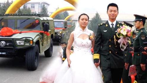 """最霸气婚车车队! 25名新娘乘坐""""猛士""""军车嫁入军营"""