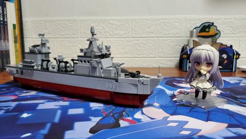 """用积木还原的海上奶妈:小鲁班积木""""906B型补给舰""""评测"""