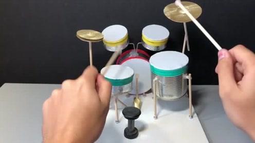 用罐头DIY的架子鼓,精致得让人舍不得拆掉!