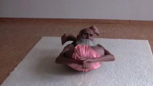 瑜伽真能延年益寿?印度101岁瑜伽老人,柔韧度比年轻人还好