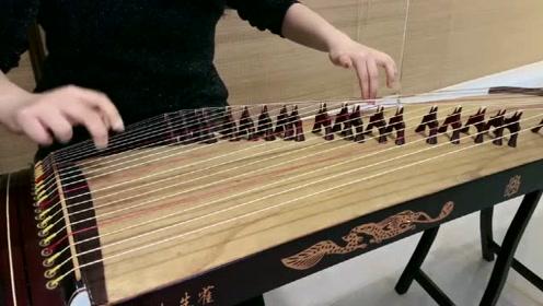 《寒鸦戏水》古筝曲零基础自学演奏教学