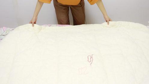 5分钟套好10斤厚棉被,方法还简单,套出的被子边角整齐不会散