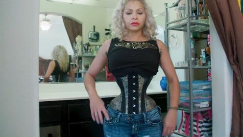 """传说中的""""腰精"""",女子腰围只有18英寸,她是怎么做到的?"""