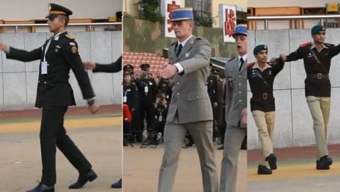 17国军校学员走队列见过吗?带你一次看个全 最后一个真的帅!