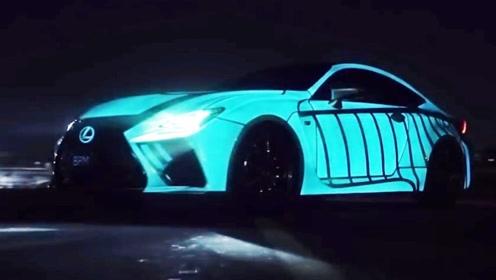 老外发明黑科技车漆,把光涂在车上!晚上出街就是全场焦点!