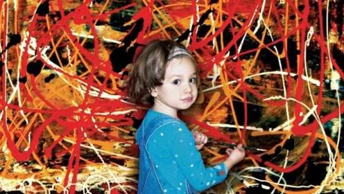 5岁小女孩举办个人画展,身家已超千万,她的作品更令人赞叹