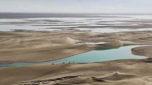 中国再创绿色奇迹,甘肃干涸300年的湖泊再现波光,面积堪比西湖