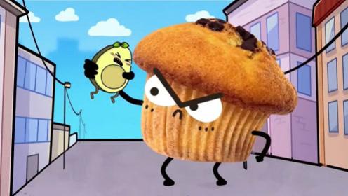 为了减肥,牛油果抛弃最爱吃的蛋糕,结果它变身大怪兽来复仇!