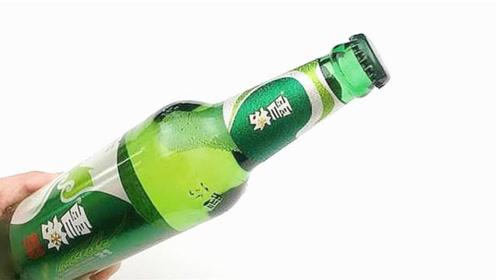 才发现,开啤酒这么简单,找到一张纸,轻松开瓶盖不费力,学到了