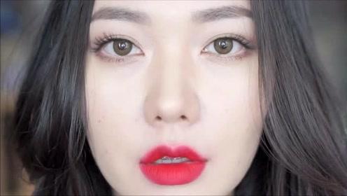 女子素颜也好看,化个女神妆容,美得让人移不开眼