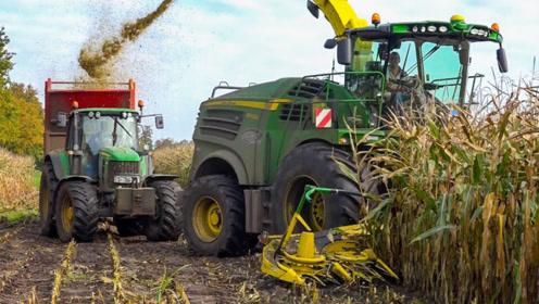 美国为啥世界粮食出口量第一?看他们小麦收割机场面,不服都不行