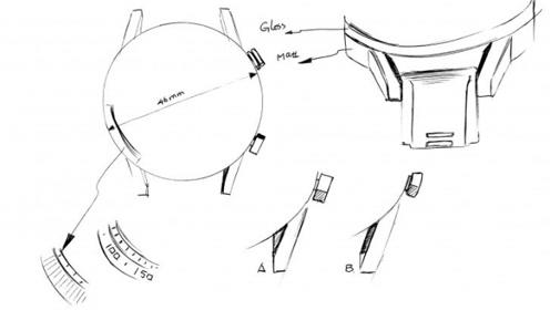 荣耀Magic Watch 2智能手表设计草图曝光,这设计爱了!
