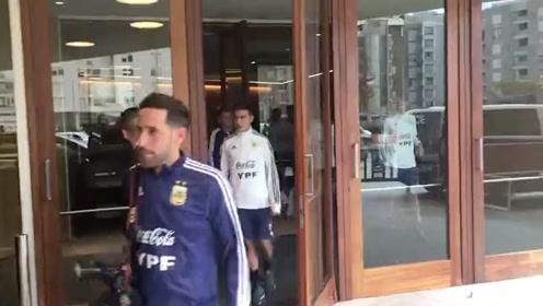 阿根廷队赛前训练