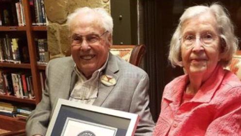 全球最老夫妇结婚80年 两人年龄合计211岁