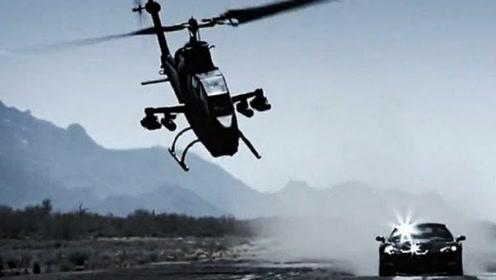 韩国小伙开超跑和武装直升机赛跑,直接把飞机跑废!得赔2亿!