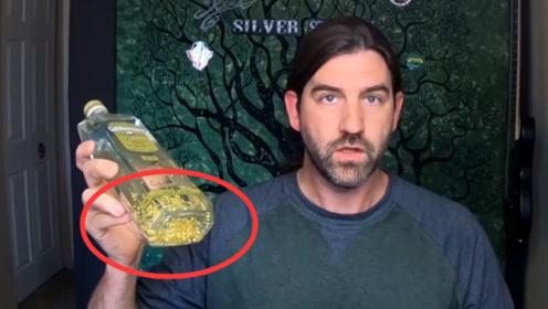 23美元一瓶的黄金酒能提取多少黄金?土豪老外亲测,结果亏大了!