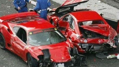 法拉利追尾宝马,瞬间损失近百万,司机:车是借的