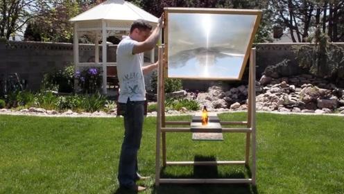 一个超大放大镜的威力有多大?这太阳的能量也太大了!